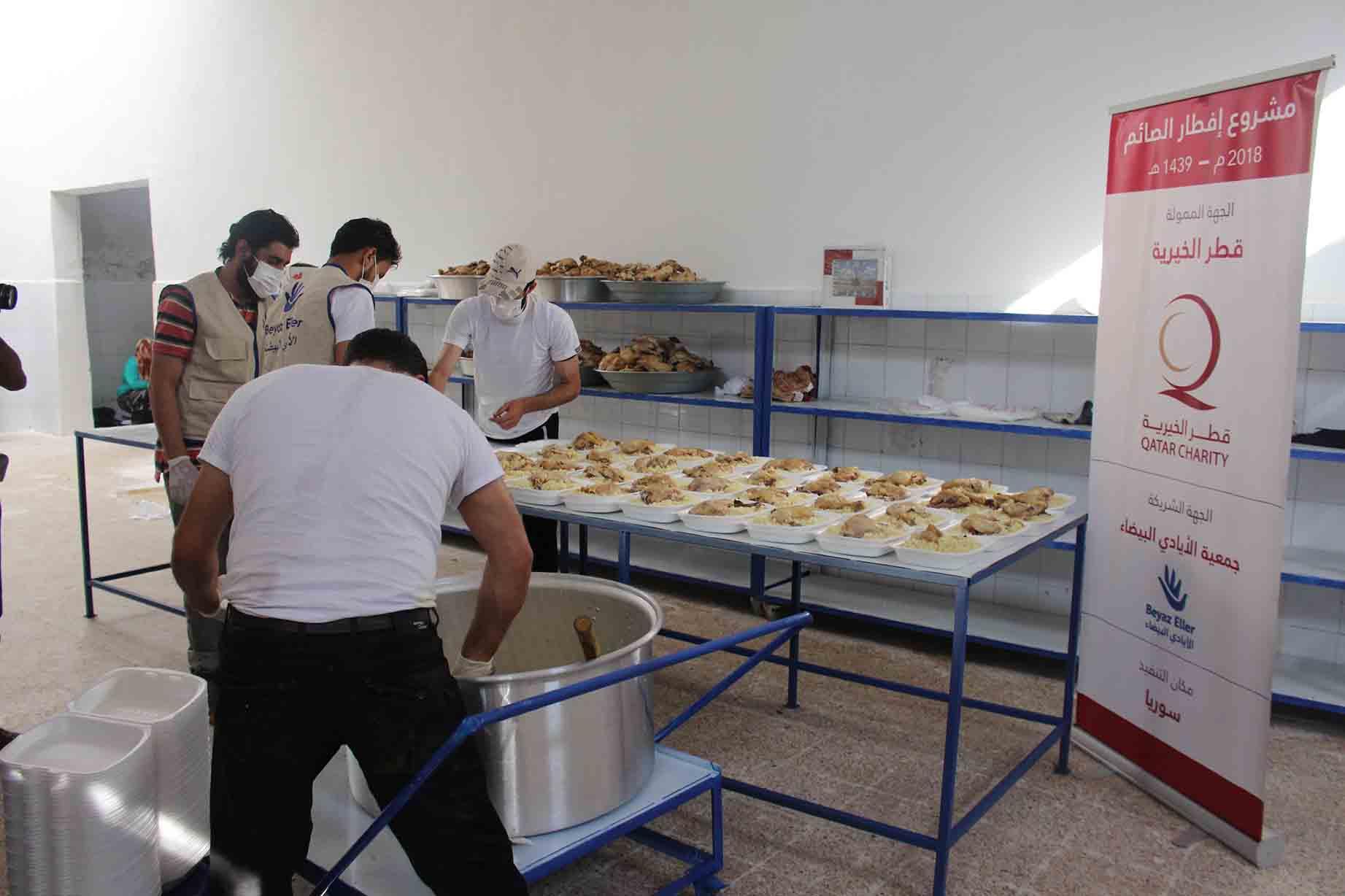 وجبة إفطار صائم بدعم قطر الخيرية